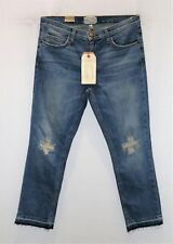 "CURRENT/ELLIOTT Brand Blue THE CROPPED STRAIGHT Leg Jeans Size 28"" BNWT #SB116"