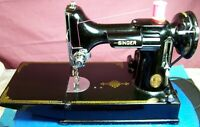 Singer Featherweight Sewing Machine 221 With Case and Attachments