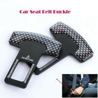 2 X Car Safety Seat Belt Buckle Alarm Stopper Clip Clamp Carbon Fiber Universal-