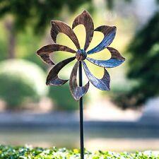 Metal Wind Spinner Kinetic Garden Decor Patio Outdoor Lawn Stake Yard Art Garden