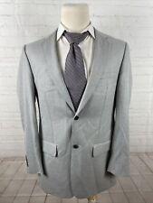 Joseph and Feiss Men's Gray Blazer Solid Blazer 44R $495
