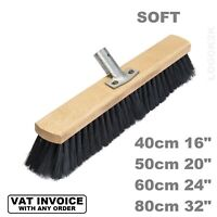 Sweeping Brush Head SOFT Bristle Hard OUT/INdoor Broom Yard Sweeper NYLON BLACK