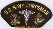 CORPSMAN HAT PATCH US NAVY MARINES MEDICAL FMF BADGE USS NAVY SEALS IWO JIMA WOW