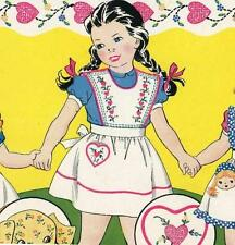Vintage Hand Embroidery 144 Three Child's Apron PATTERNS in 3 sizes with 1950s