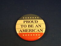 """""""PROUD TO BE AN AMERICAN"""" Lot of 12 BUTTONS PATRIOTIC USA pinback 2 1/4""""  badge"""