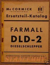 Traktor Schlepper IHC MC Cormick Farmall DLD-2 Ersatzteilkatalog Teileliste
