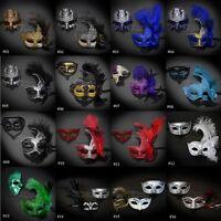 His & Hers Couple Pair Laser Cut Gladiator Goddess Venetian Masquerade Mask