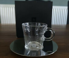 Nespresso Espresso View Glass Cup With Metal Saucer