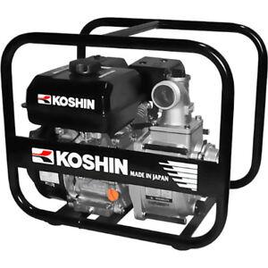 "KOSHIN SEV-50X 2"" CENTRIFUGAL CLEAR WATER PUMP 163 gpm 4.7 hp 179cc engine"