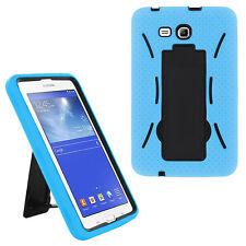 light blue hybrid hard case skin cover for samsung galaxy tab 3 e lite 7.0 t110