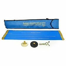 New Industrial Bailey 30ft Drain Rod Set Kit Plunger Worm Cleaning Rods & Bag