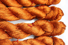 Knitting Mulberry Silk Yarn Shiny Lustrous Spun From Cocoon 2 Hanks 100Grams RT