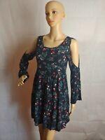 American Eagle XXS Floral Summer Mini Dress Floral. Open Shoulder pre-owned