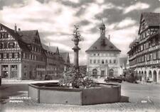 Rarität Foto AK 1961 Schorndorf Württemberg Marktplatz mit Brunnen und Gebäuden