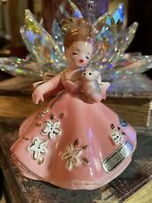 Vintage Joesef Originals July Birthday Month Girl Holding Kitten Japan