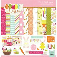 Scrapbooking Crafts Photo Play 12X12 Paper Pack Hoppy Easter Eggs Bunny Carrots