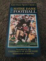 NOTRE DAME 1989  FOOTBALL SEASON Season VHS TAPE