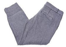 BANANA REPUBLIC Womens Capri Trousers W28 L23 Black White Houndstooth Cotton