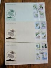 SAINT LUCIA  ENDANGERED TREES 1990 SET 12 STAMPS 3 FDCS