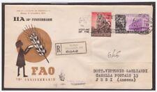 FDC VENETIA  CLUB  1955  -   FAO  +  IIA   VIAGGIATA RACC.