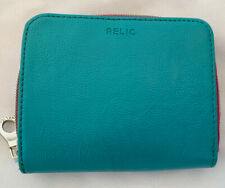 Relic Womens Wallet Teal & Purple Zipper Closure