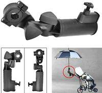 Holder Umbrella Stand Cart Stroller Golf Adjustable Push Clamp Trolley Bike