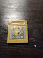 Pokemon Gold Version (Game Boy Color GBC 2000) Authentic