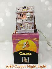 👻 1986 Casper the Friendly Ghost Porcelain Night Light w/ Box Works! 👻