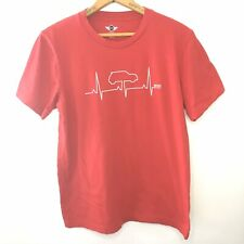 Mini Cooper Heartbeat Graphic Tee T Shirt Womens M Red 100% Cotton USA Made Car