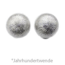 835 Sterling Silber Ohrclips Ohrringe Halbkugel silver earclips earrings 🍀🍀🍀