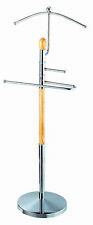 Suit / Dress Valet Stand Chrome Base with Tie & Belt Holder NEW Floor Standing