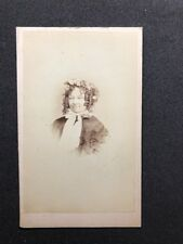 Victorian Carte De Visite CDV: Turners Photo Studio: Lady Bonnet Ringlets 1 of 2