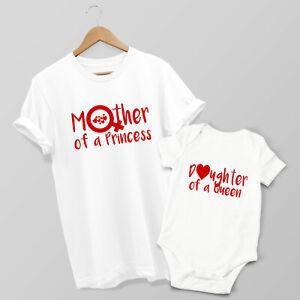 Mother of a Princess, Daughter of a Queen Matching T-shirt & Baby Grow Set