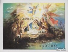 lesotho block7 (complete issue) used 1980 christmas