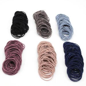 Haargummi 100 Stück Haarband Zopfgummi Damen Kinder elastische Haargummis