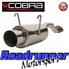 "HN13 Cobra Civic Type R EP3 Back Box Stainless Rear Silencer Exhaust 4"" Round"