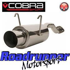 """Hn13 COBRA Civic Tipo R ep3 Posteriore Box Silenziatore Di Scarico posteriore inox 4"""" Round"""