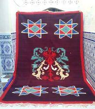 """Moroccan Rug Carpet Vintage Kilim Berber Handmade Rug Wool Tribal 9'8"""" x 6'2"""""""