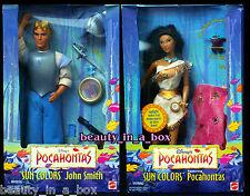 Pocahontas Doll & John Smith Sun Colors Disney Ken Doll Lot 2 Flit Ring
