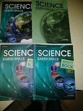 Abeka Science Earth and Space text book/answer key & activity book/answer key