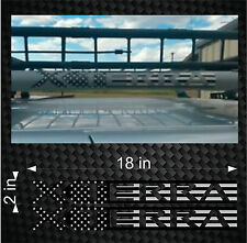 """Custom Pair of 18"""" Subdued American Flag Xterra Roof Rack Decal Sticker Stickers"""