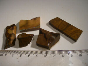 (Lot 1389) 5 pieces Boulder Opal,cutting opportunities with these nice pieces.