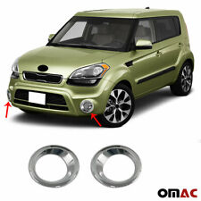 Fits Kia Soul 2010-2013 Chrome Fog Light Frame Trim Cover S.Steel 2 Pcs