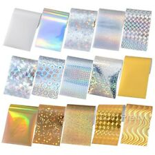 15 Sheets Starry Sky Holographic Nail Foils Gold Silver Nail Art Stickers Decals