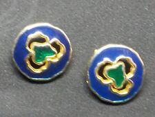 bm05/ 2 boutons métal émaillé dia28mm Vintage 2 enamelled metal buttons