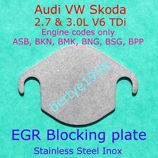 EGR valve blanking plate V6 2.7 TDi 3.0 TDi Engine Codes ASB BKN BMK BNG BSG BPP