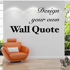Personalised Wall Sticker Custom Vinyl Decal Design your Own Quote by DecalFairy