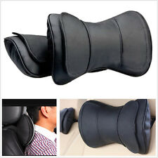 New Universal Black Leather Auto Car Truck Neck Rest Headrest Pillow Cushion Mat