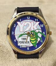 Y2K / Millennium Bug Reverse Watch w/ goofy backwards mov't (runs backwards)