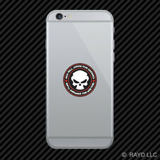 God Will Judge Our Enemies We'll Arrange The Meeting Cell Phone Sticker v7b